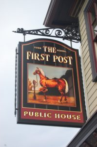 The First Post sign.